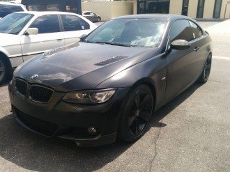 Custom Paint Job with Carbon Fiber Features on BMW