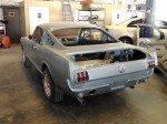 Freshly repainted 1965 Mustang