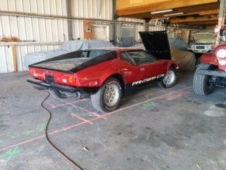 Pantera sportscar being repaired