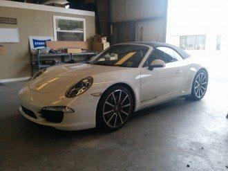 Porsche 911 Carrera in for body work