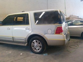 SUV almost ready for spray booth