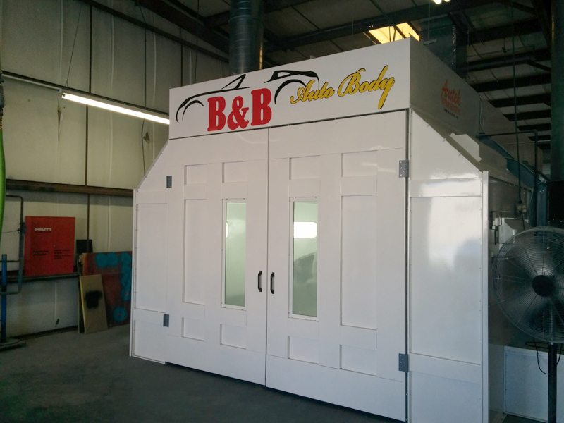 B & B Auto Body's Autek downdraft heated spray booth