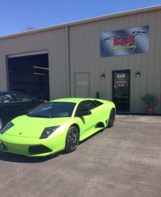 lamborghini murcielago repaired and painted at our Sarasota Body Shop