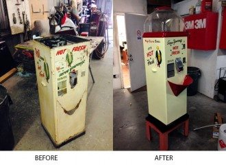 Popcorn Machine Repair - before and after